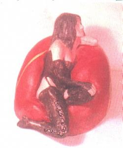 Erotic Sculpture - Black Stockings And Red Chair by Harry  Weisburd