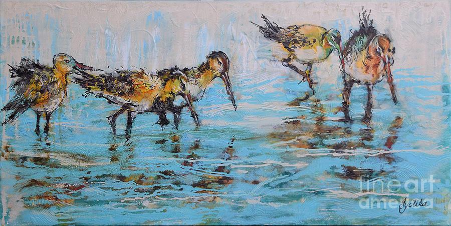Black-Tail Godwits by Jyotika Shroff