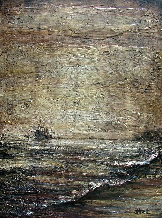 Black Tide Painting - Black Tide by Judy Merrell