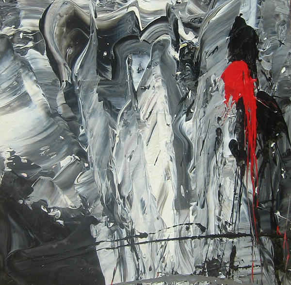 Abstract Painting - Black To Basics by Carrie Allbritton