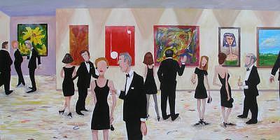 Black Turd Affair Painting by Liz Watkins
