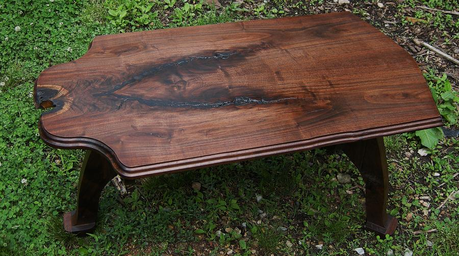 Tables Sculpture - Black Walnut Table by Ivan Rijhoff