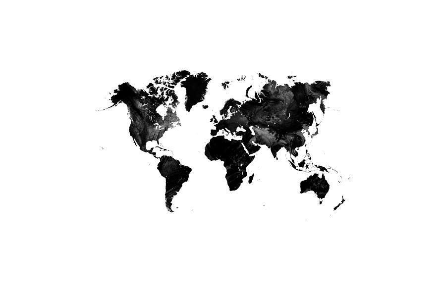 Black watercolor world map digital art by ummuhan uslu world map digital art black watercolor world map by ummuhan uslu gumiabroncs Gallery
