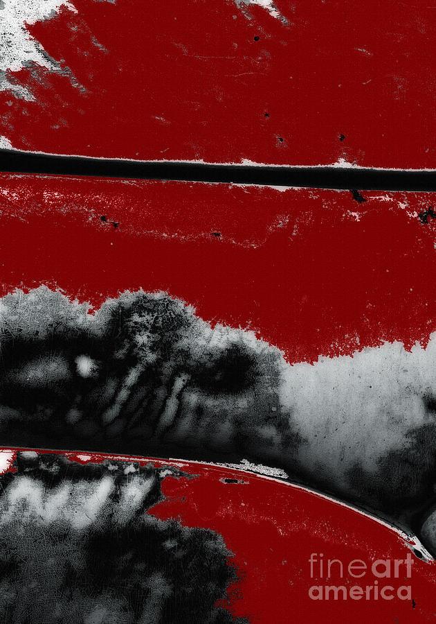 Black White Red Allover  V by Lee Craig