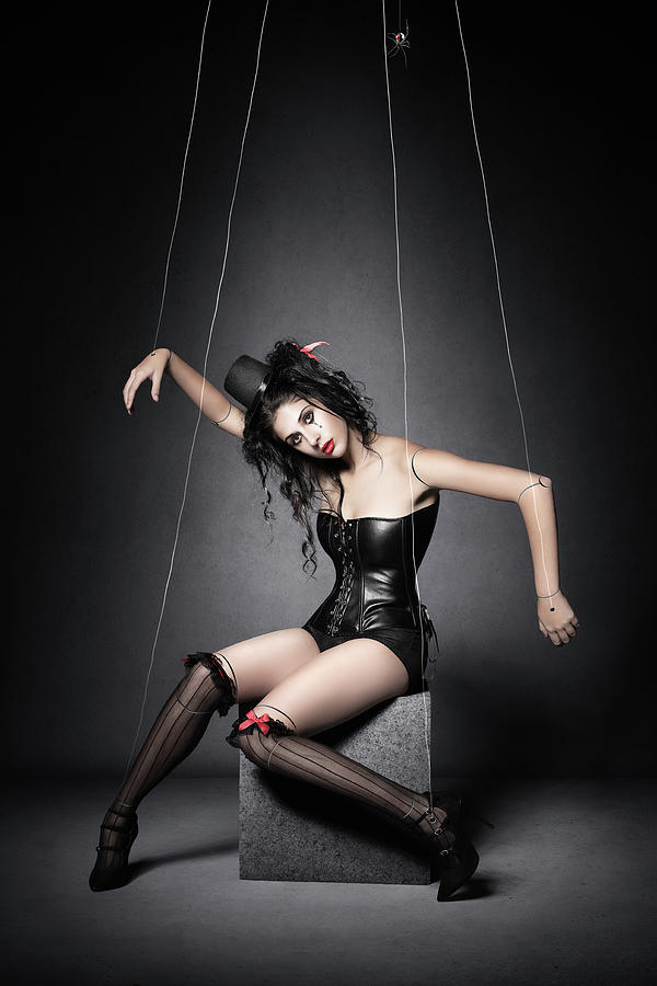 Marionette Photograph - Black Widow Marionette Puppet  by Johan Swanepoel