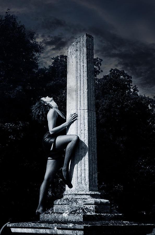 Woman Photograph - Black Widow by Simon Pocklington