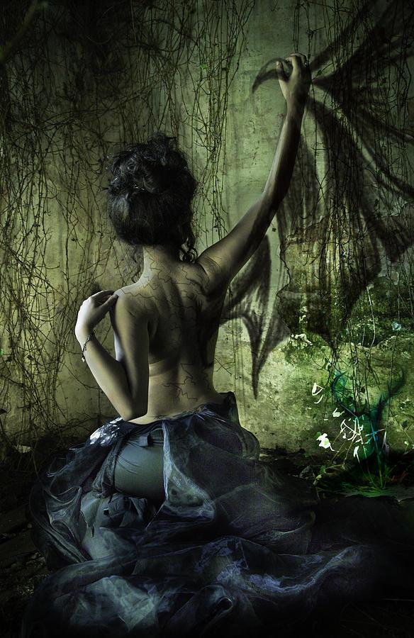 Divine Digital Art - Black Wing by MrsRedhead Olga