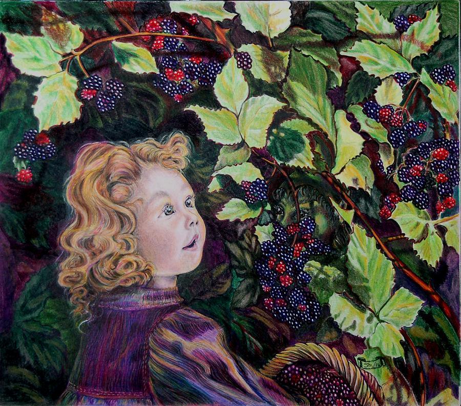 Blackberry Drawing - Blackberry Elf by Susan Moore