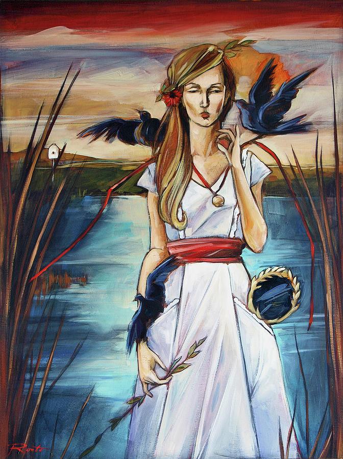 Blackbird Painting - Blackbird by Jacque Hudson