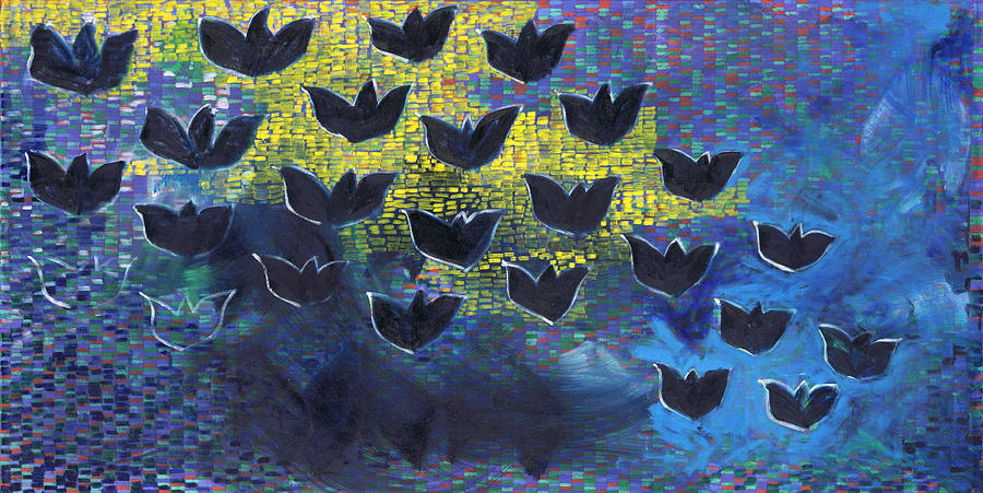 BlackBirds Painting by Joan De Bot