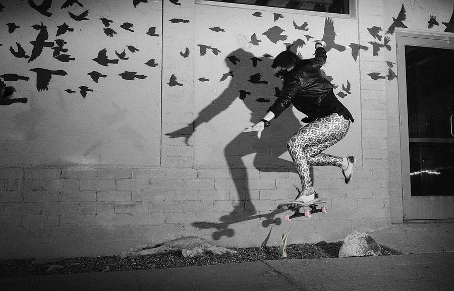 Skateboard Photograph - Blackbirds by Ken Hada