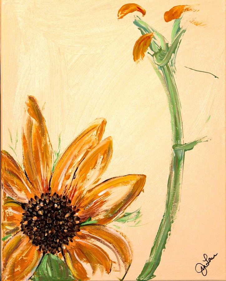 Flowers Painting - Blackeyes Watching The Flinthilss by Jennifer  Lane