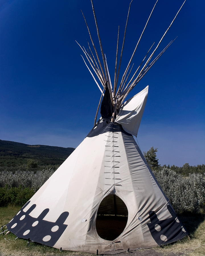Blackfeet Indian Teepee Photograph By Sally Weigand