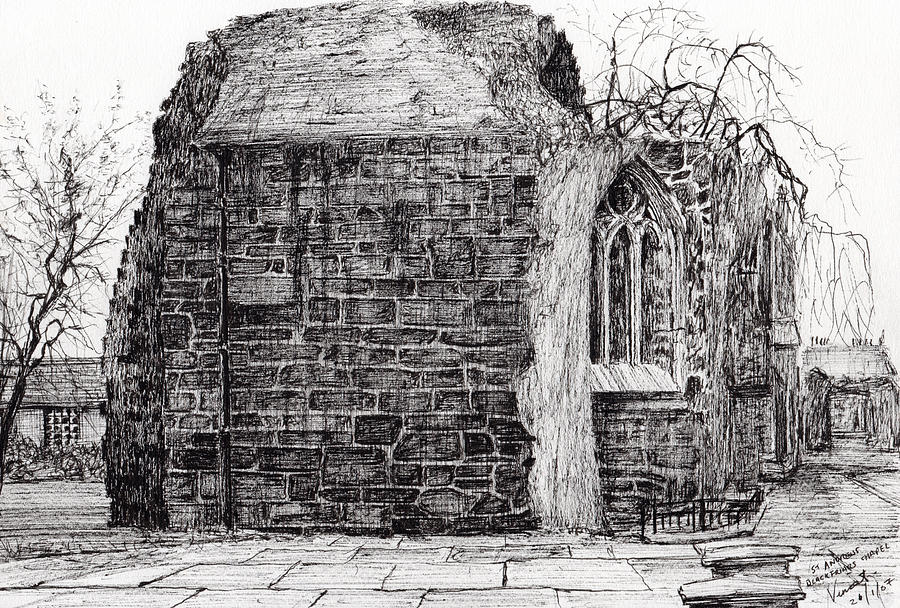 British Drawing - Blackfriars Chapel St Andrews by Vincent Alexander Booth
