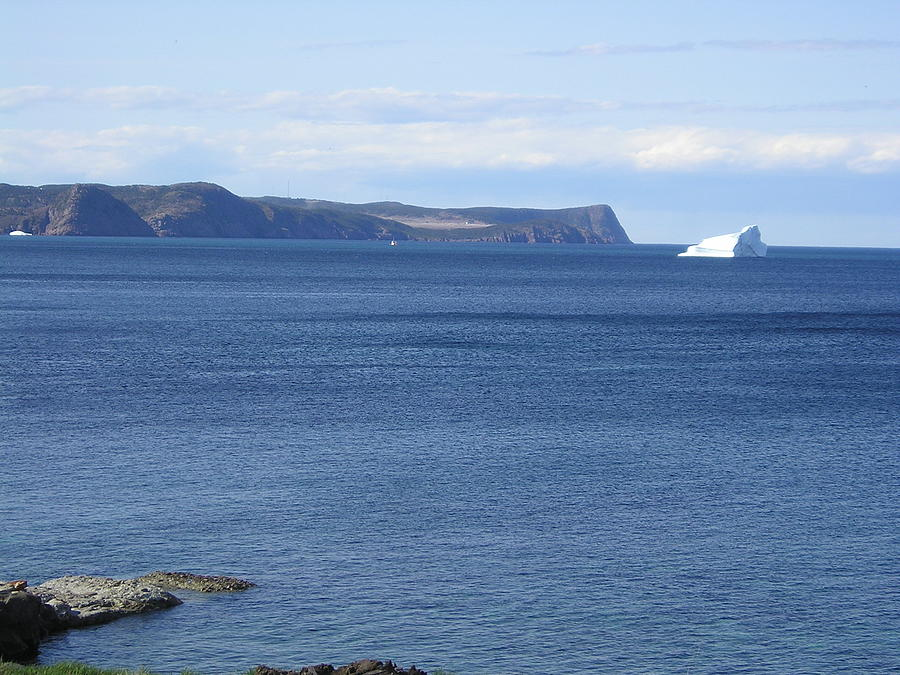 Iceberg Photograph - Blackhead Iceberg Newfoundland by Allison Prior