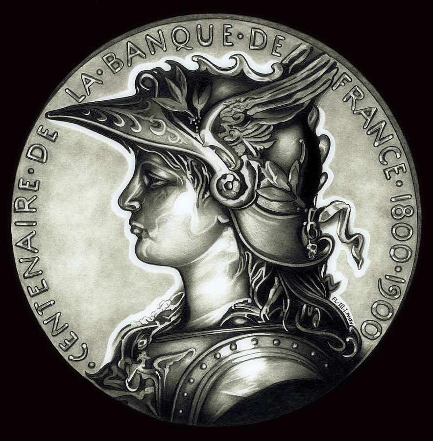 Coin Drawing - Blackmarianne  by Fred Larucci