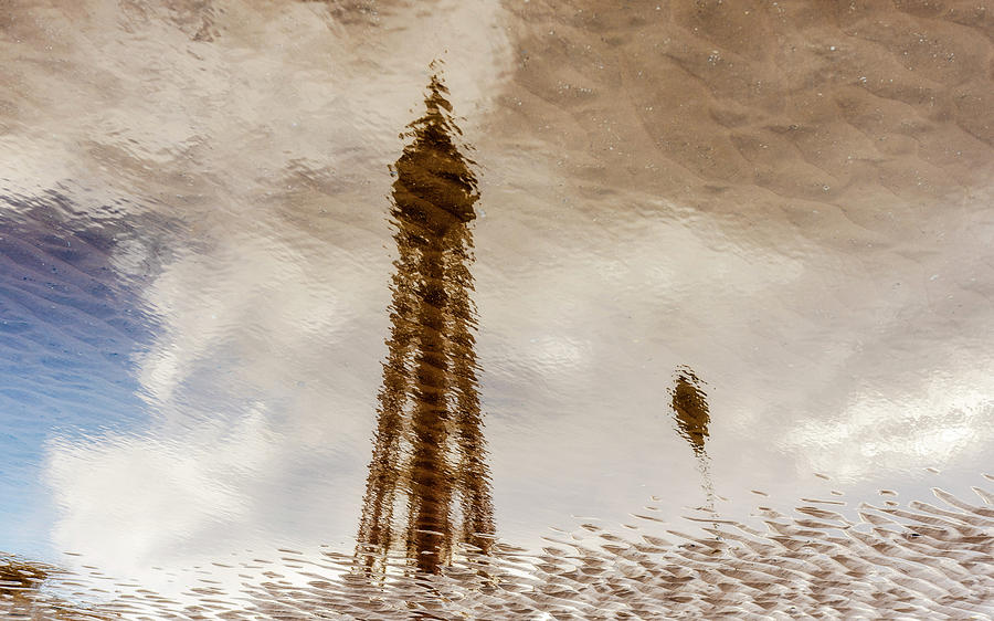 Blackpool Photograph - Blackpool Tower Reflection by Phillips and Phillips
