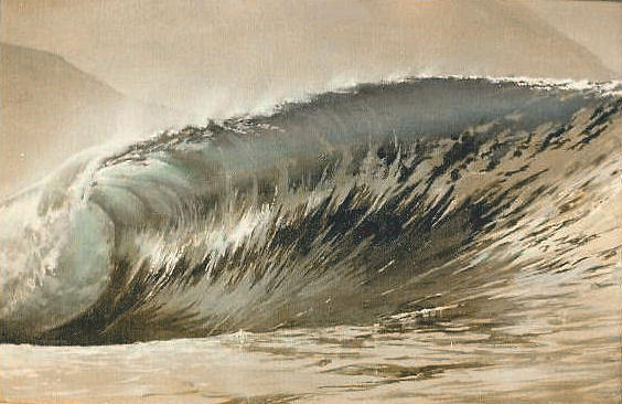 Waves Painting - Blacks by Philip Fleischer