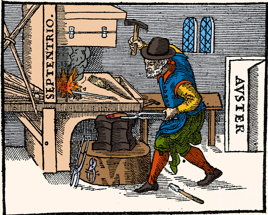 Science Photograph - Blacksmith, 17th Century Illustration by Science Source