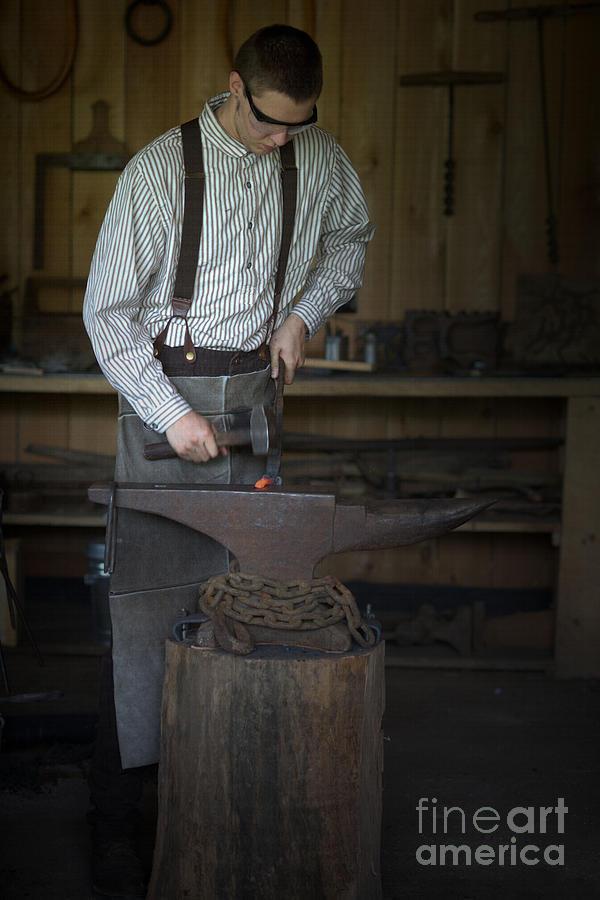 Blacksmith At Work Photograph - Blacksmith At Work by Liane Wright
