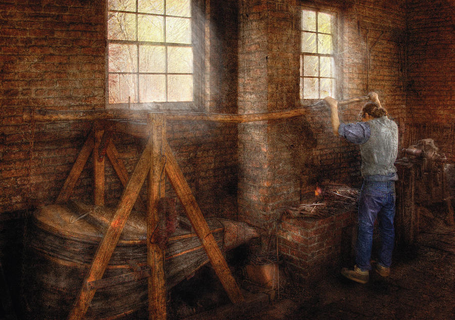 Savad Photograph - Blacksmith - Its Getting Hot In Here by Mike Savad