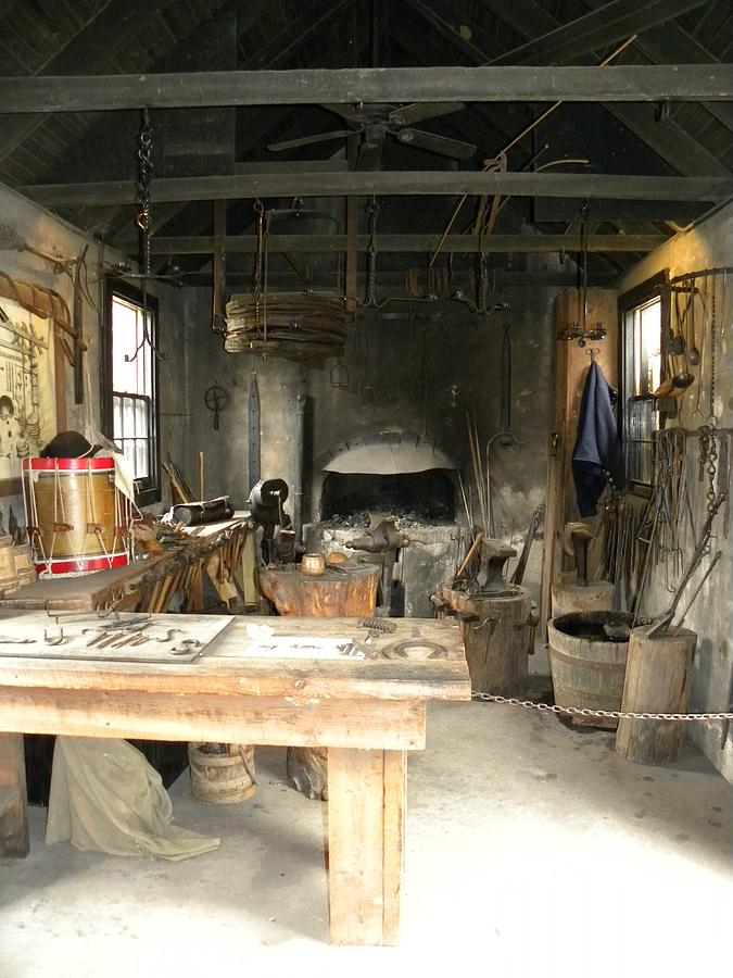Middleton Plantation Photograph - Blacksmith by Kim Zwick