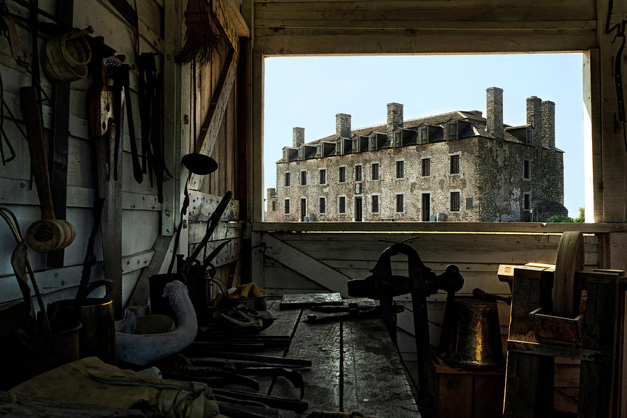 Old Fort Niagara Photograph - Blacksmith Shed by Peter Chilelli