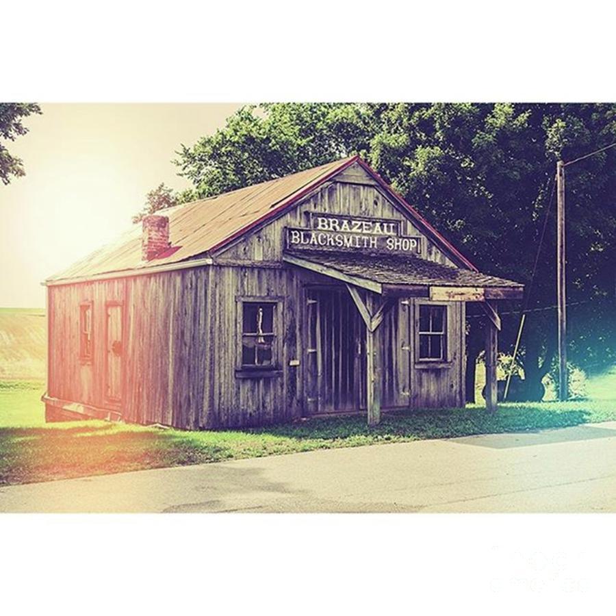 Shop Photograph - Blacksmith Shop brazeau by Larry Braun