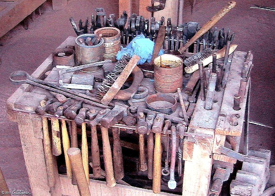Blacksmith Photograph - Blacksmith Tools by Cristophers Dream Artistry