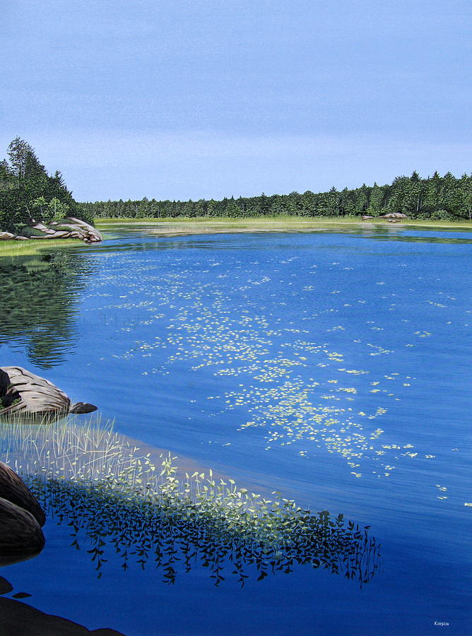 Landscapes Painting - Blackstone Bog by Kenneth M  Kirsch