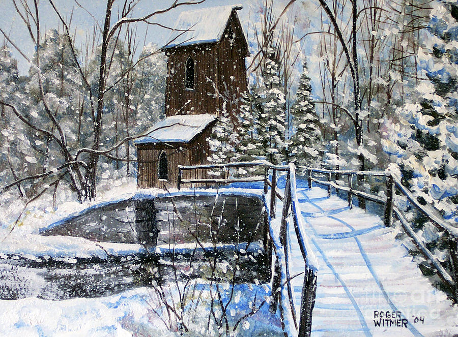 Old Mill Painting - Blair Mill by Roger Witmer