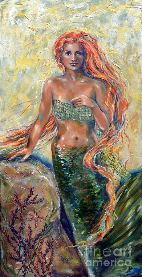 Mermaid Painting - Blaise by Linda Olsen