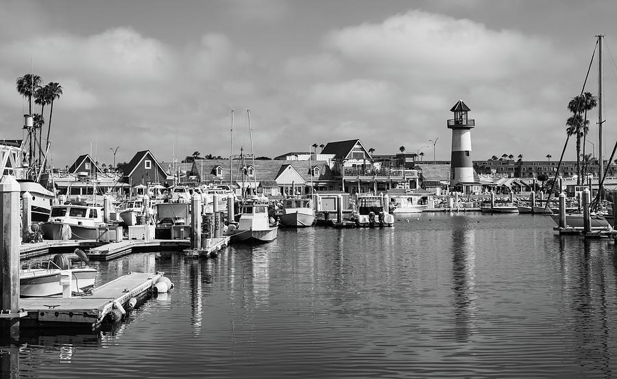 Blackandwhite Photograph - Black And White Oceanside California Marina  by Bruce Pritchett