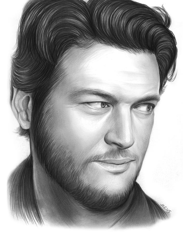 Blake Shelton Drawing By Greg Joens