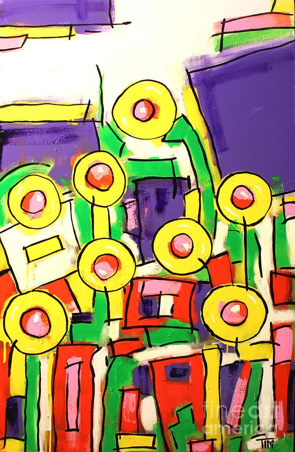 Pop Painting - Blame It On The Bossa Nova by Tim Ross