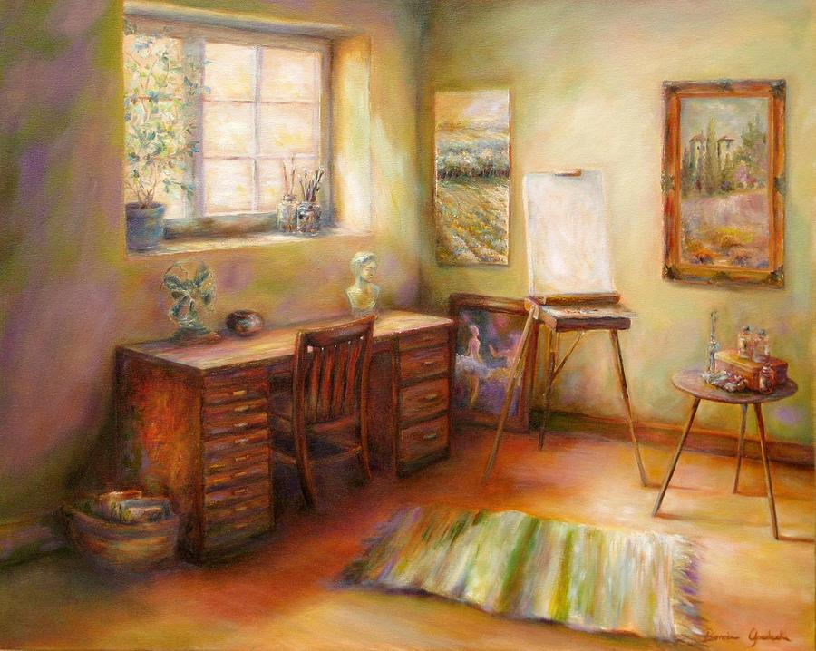 Art Room Painting - Blank Canvas by Bonnie Goedecke