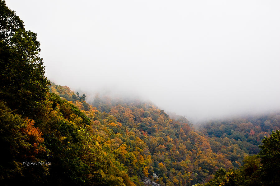 Mountains Photograph - Blanket Of Clouds by DigiArt Diaries by Vicky B Fuller