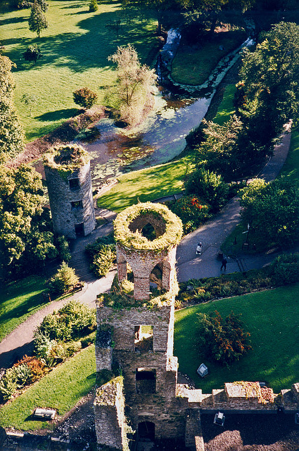 Blarney Photograph - Blarney Castle Ruins In Ireland by Douglas Barnett
