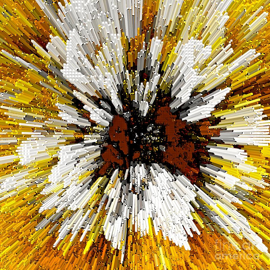 Blast Painting - Blast From The Past Abstract Art by Saundra Myles