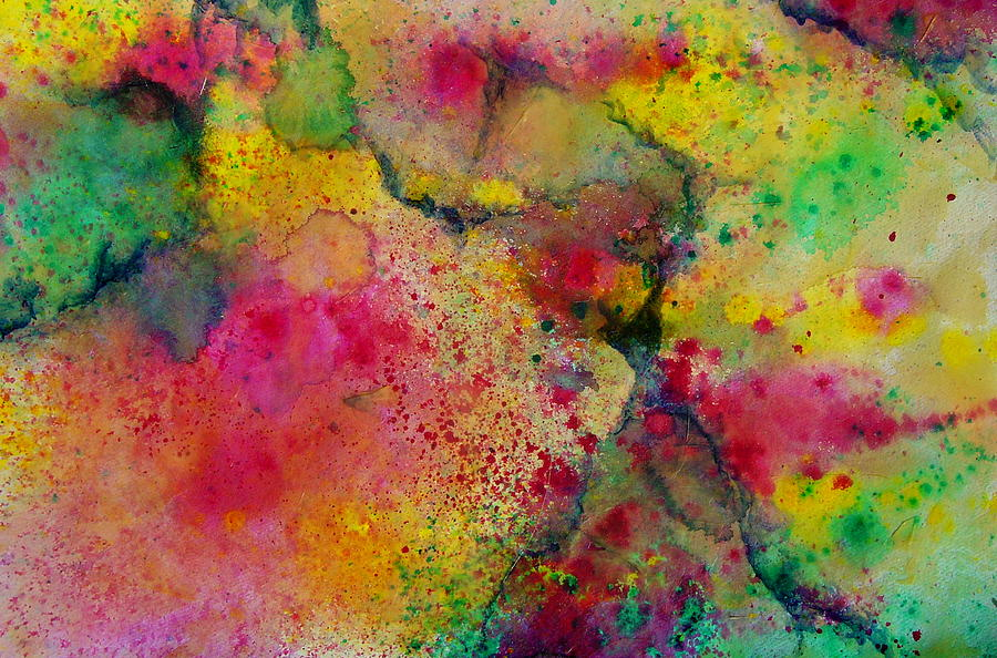 Abstract Mixed Media - Blast by Nicole Lee
