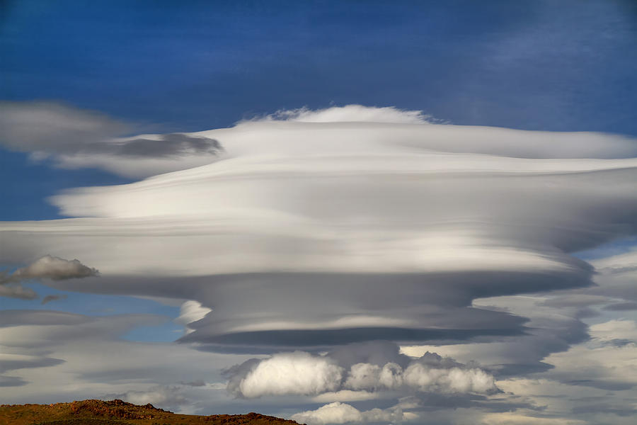 Lenticular Clouds Photograph - Blast Off by Donna Kennedy