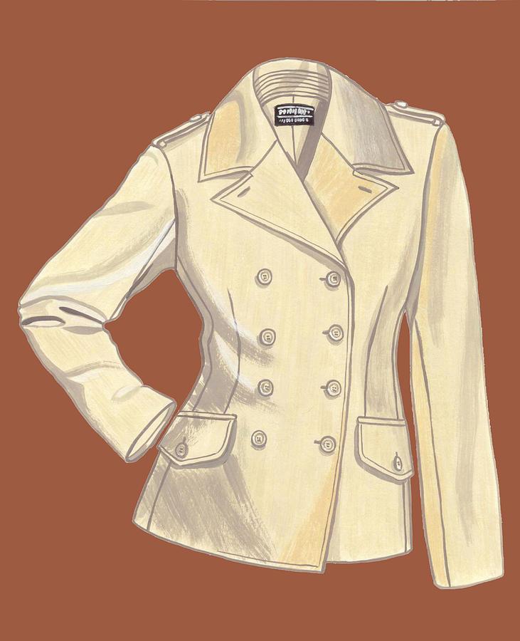 Fashion Design Painting - Blazer Front by Vlasta Smola