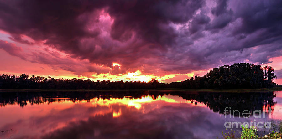 Nature Photograph - Blazing Clouds by Rick Mann