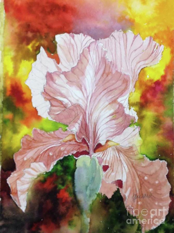 Floral Painting - Blazing Iris by Glen Ward