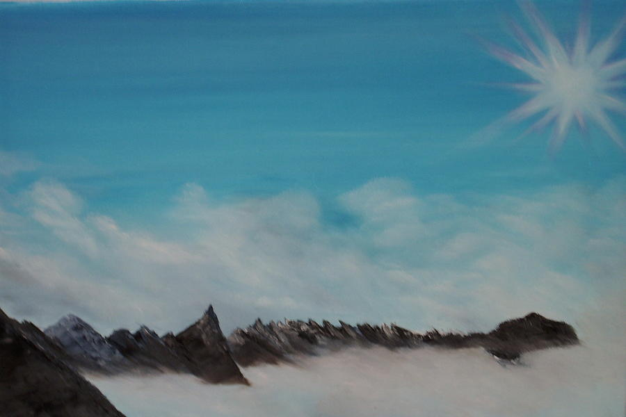Sky Painting - Blazing Peaks by Shelley Patten-Forster