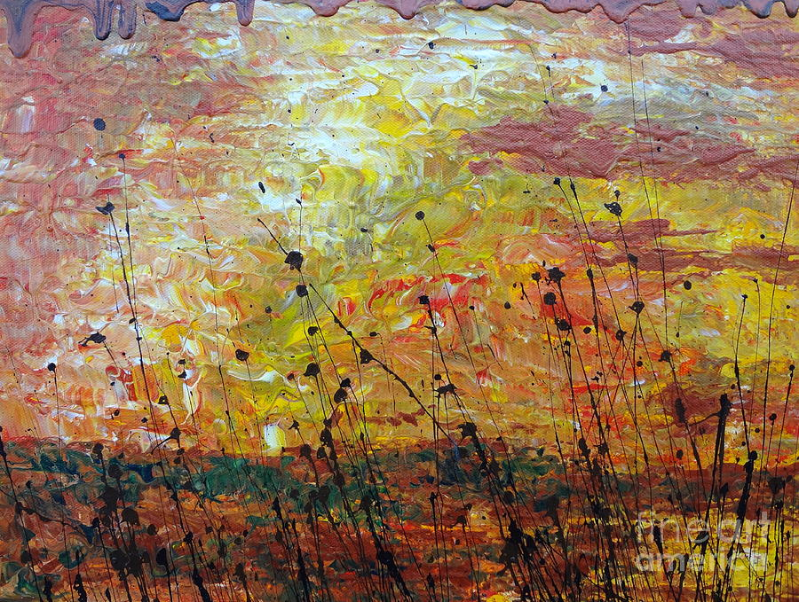 Nature Painting - Blazing Prairie by Jacqueline Athmann