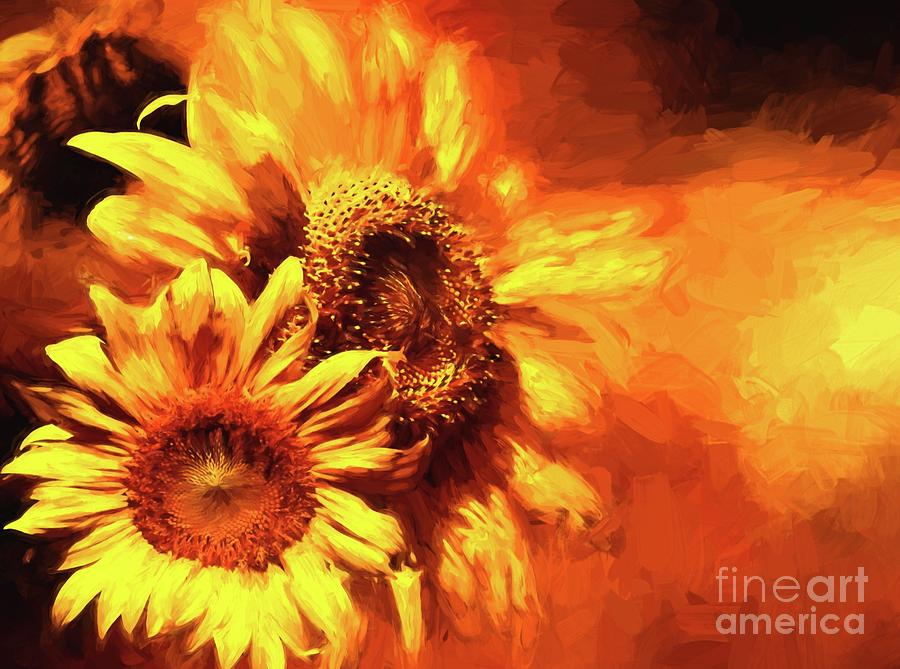 Blazing Sunflowers no text by Pam  Holdsworth