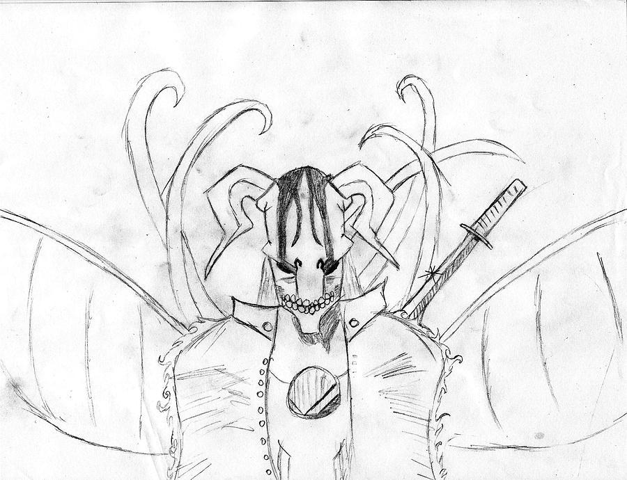 Bleach Drawing - Bleach Mask by Alexander Cisneros