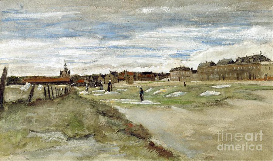 Vicent Van Gogh Painting - Bleaching Ground At Scheveningen by Van Gogh