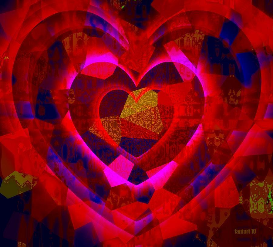 Fania Simon Painting - Bleeding Hearts For The Elderly In Haiti by Fania Simon